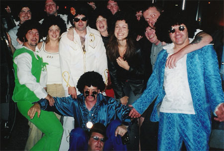 Elvis impersonators party.