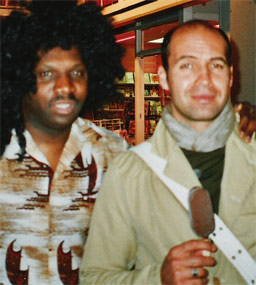 DJ with Billy Zane.